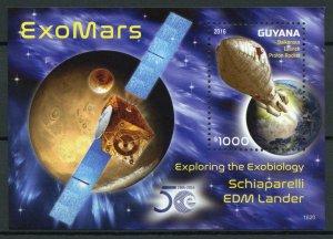 Guyana Space Stamps 2016 MNH ExoMars Schiaparelli EDM Lander Mars 1v S/S