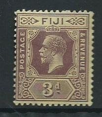 Fiji  GV  SG 130d  MH Die II on pale yellow