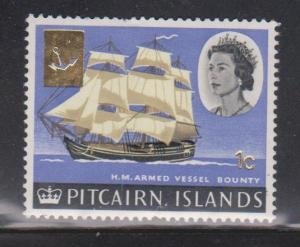 PITCAIRN ISLANDS Scott # 73 MH - QEII & Ship With Overprint