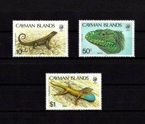 CAYMAN IS - 1987 - LION LIZARD - IGUANA - ANOLE - MINT - MNH - SET!