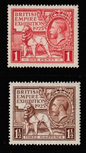Great Britain the 1925 KGV Exhibition pair mint