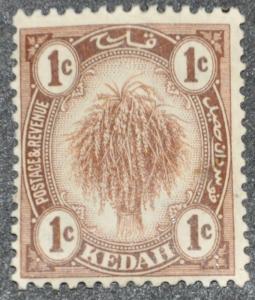 DYNAMITE Stamps: Malaya Kedah Scott #23 – UNUSED
