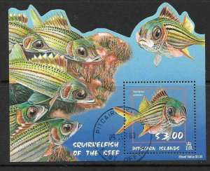 PITCAIRN ISLANDS SGMS655 2003 SQUIRRELFISH FINE USED