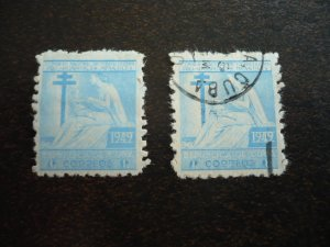 Stamps - Cuba - Scott# RA9 - Mint Hinged & Used Single Postal Tax Stamps