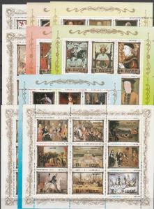 Korea #2438-46 MNH Sheets CV $125.00 (K1764L)