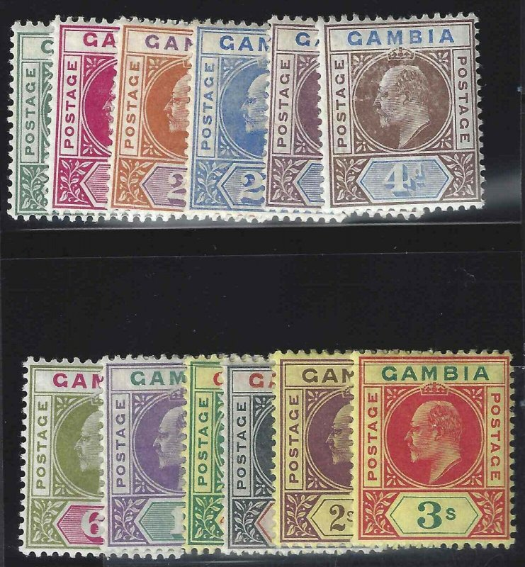 Gambia 1902-1905 SC 28-39 MLH SCV $288.00 Set