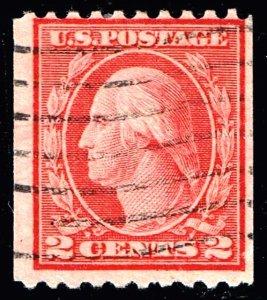 US STAMP #450 1915 2¢ Washington Type III USED STAMP