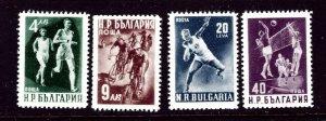 Bulgaria 706-09 MNH 1950 Sports    (ap3548)