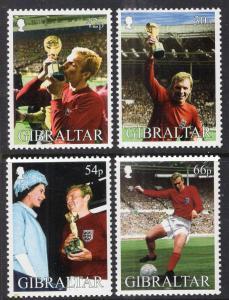 Gibraltar 2002  # Bobby Moore Soccer  set MNH # 905-908