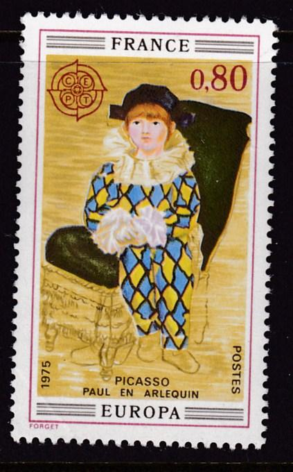 France 1975 ART Paul as Harlequin by Picasso VF/NH