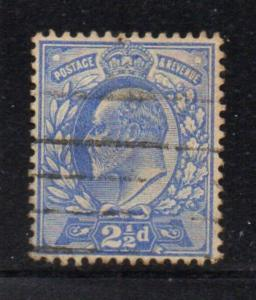 Great Brirain Sc 131 1902 2 1/2d ultra Edward VII stamp used