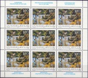 Yugoslavia. 1986. Small sheet 2148-49. Enviroment protection. MNH.