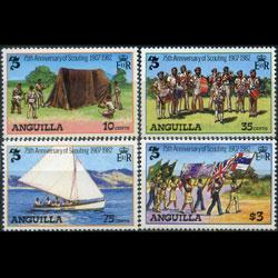 ANGUILLA 1982 - Scott# 502-5 Scouting Year Set of 4 NH