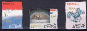 Ecuador 1989 Sc#1211/1213 French Revolution Bicentenary Set (3) MNH