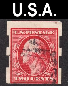 United States Scott 344 F to VF used. Clean pair of Schermack perforations.