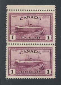 2x Canada $1.00  Train Ferry Stamps #273-$1. MNG VF Guide Value = $90.00