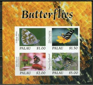 PALAU 2020  BUTTERFLIES SET OF TWO  IMPERF SHEETS MINT NH