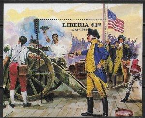 1982 Liberia #943 Battle of Yorktown MNH S/S