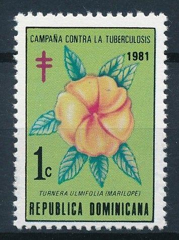 [62599] Dominican Republic 1981 Flora - Campaign against Tuberculosis  MNH
