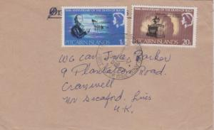 Pitcairn Island 1c and 20c QEII Death of Admiral Bligh 150th Anniversary 1967...