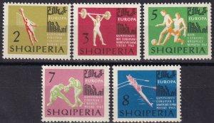 Albania #686-90  MNH CV $6.05  (Z8023)