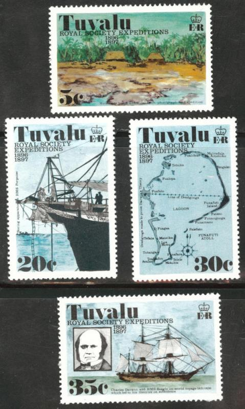 TUVALU Scott 54-57 MNH** Royal expeditions set