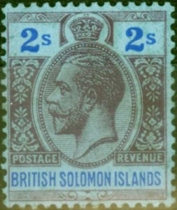 Solomon Islands 1927 2s Purple & Blue-Blue SG49 Fine MNH