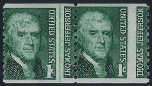 1299 Misperf Line Pr Thomas Jefferson Mint NH