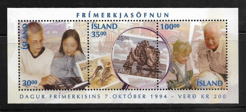 ICELAND,789, MNH, S.S OF 3, STAMP DAY