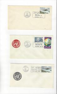 Philippines 3 Covers With United Nations Slogans 1963