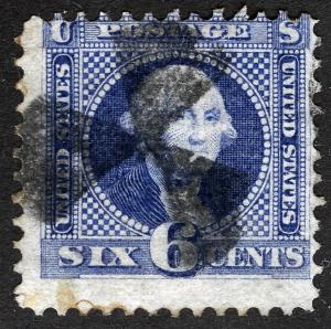 US Sc 115 Blue 6¢ Black Windmill Cancel