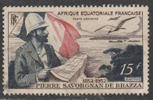Afrique Equatorial Fr. 1951  Scott No. C35  (O) Poste aérienne