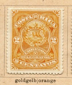 Costa Rica 1892 Early Issue Fine Mint Hinged 2c. NW-09199