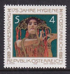 Austria   #1154  MNH 1980  Hygaeia by Gustav Klimt