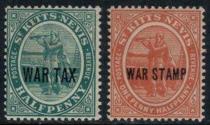 St. Kitts-Nevis #MR1-2*  CV $3.25