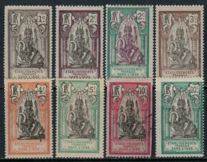 French India #25-30,2-3* (32 not counted)  CV $3.45