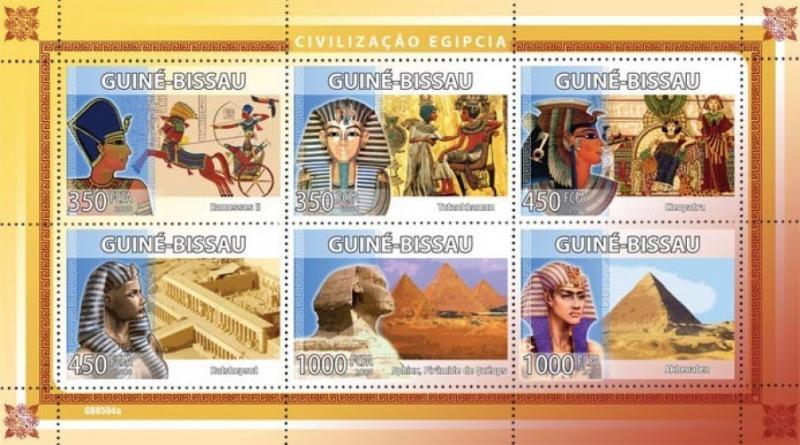 Guinea-Bissau MNH S/S Egypt Pyramids 2008