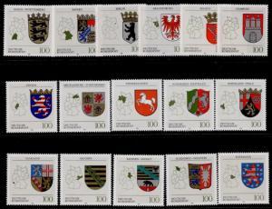 Germany 1699-714 MNH Crests, Maps