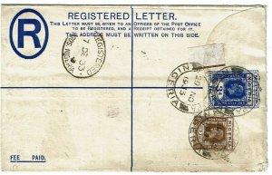 Nigeria 1933 Okitipupa cancel on registry envelope to England