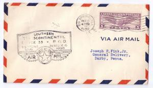 CAM 33 First Flight Cover Big Spring Texas TX 1930 FFC