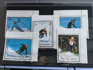 Fujeira  Pro Winter  Olympic 1976 Skiing   stamps R26128