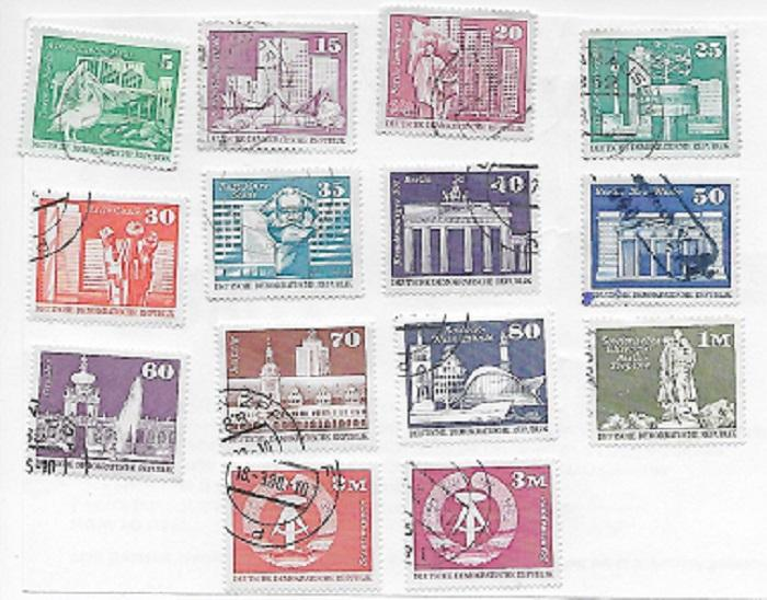 DDR 1973-74 Complete Set  Scott #1430-1443A  Used/CTO