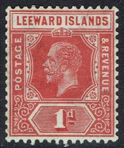 LEEWARD ISLANDS 1921 KGV 1D DIE I WMK MULTI SCRIPT CA