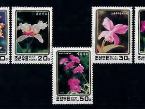 [79848] Korea 1993 Flora Flowers Blumen Orchids  MNH