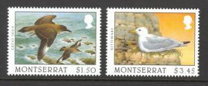 Montserrat Sc# 918-919 MNH 1997 $1.00-$3.45 Scavenger Birds