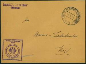 German Navy Spanish Civil War Admiral Scheer Ship Feldpost Cover 54490