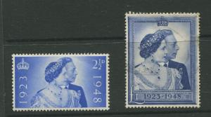 Great Britain #267-278 MLH/FU  1948  Set of 2 Stamps