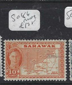 SARAWAK  (P2704B)  KGVI   10C MAP  SG 186   MOG