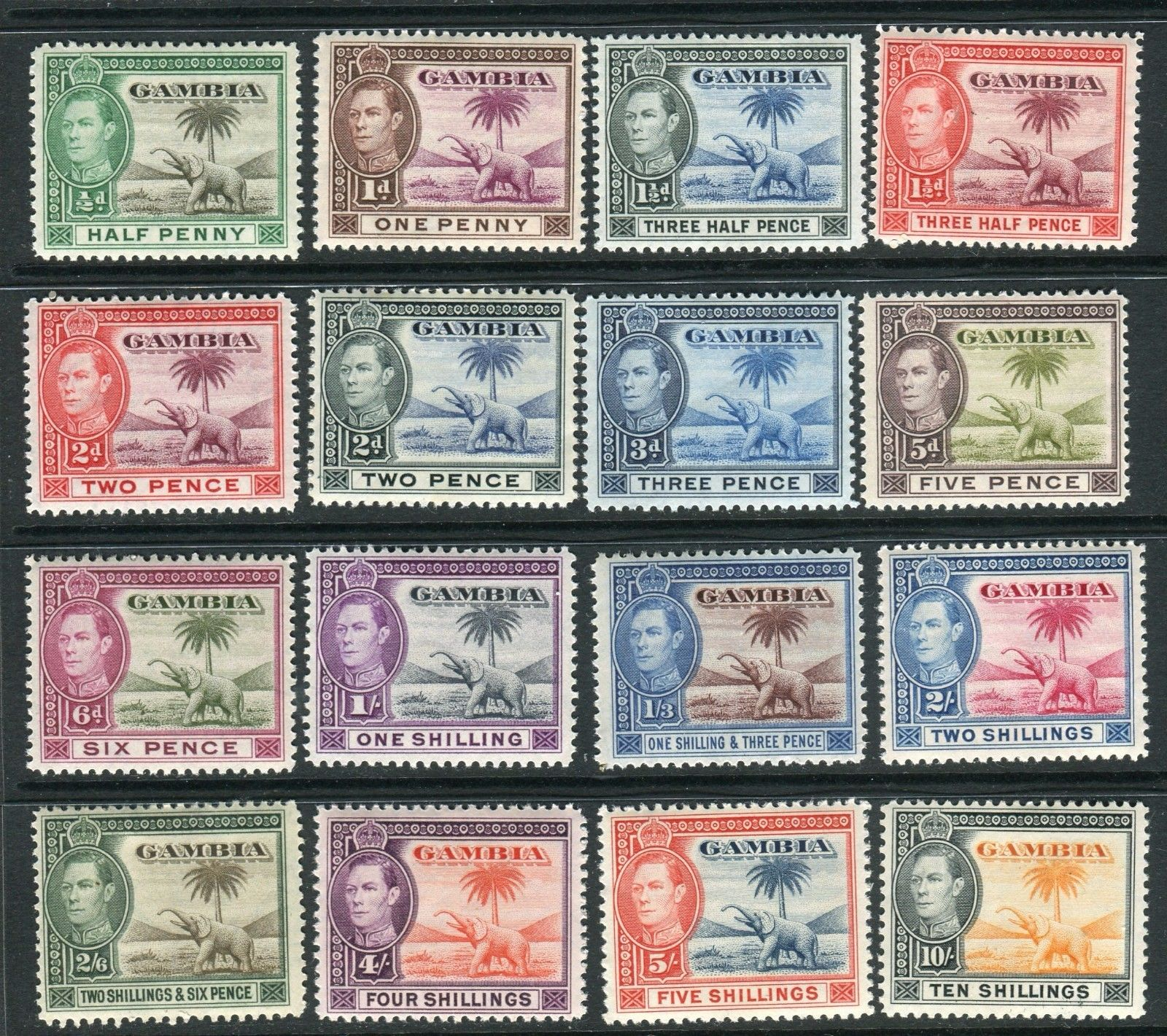 Bahamas-1938-52 A Mounted Mint Set To £1 Sg 149-157a Bahamas (until 1973)