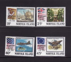 Norfolk Island 194-197 Set MNH American Bicentennial (A)